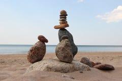 Sand hav, sten, sommar, ferie Royaltyfri Foto