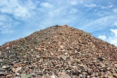 Sand heap. In quarry plant in Helsinki, Finland Royalty Free Stock Image