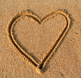 Sand heart Royalty Free Stock Photography