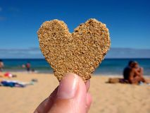 Sand Heart Stock Photography
