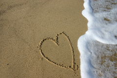 Free Sand Heart Stock Photography - 3271262