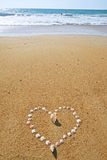 Sand heart Royalty Free Stock Image