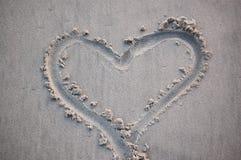 Sand Heart Stock Photo