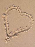 Sand heart Royalty Free Stock Images