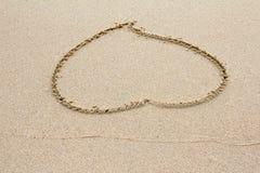 Sand Heart stock image