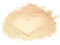 Sand heart Stock Photography