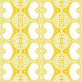 Sand Hearts Geometric Seamless Pattern. Seamless texture with yellow geometric pattern hearts. Seamless tile wallpaper background Royalty Free Stock Photo