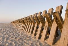 Sand-Hill Barrier. In Esmoriz beach, Portugal Stock Photography