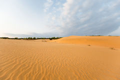 Sand hill in the morning at Phan Thiet , Binh Thuan province,  Vietnam. Royalty Free Stock Photography