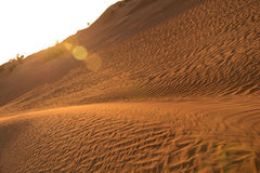 Sand hill in the Sahara desert. The Sahara ('the Great Desert') is the largest subtropical hot desert and third largest desert after Antarctica and the Arctic Royalty Free Stock Image