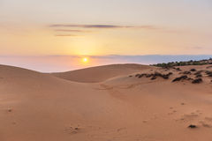 Sand hill in the sunset at Phan Thiet , Binh Thuan province,  Vietnam. Royalty Free Stock Photo