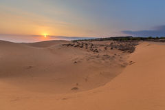 Sand hill in the sunset at Phan Thiet , Binh Thuan province,  Vietnam. Stock Image