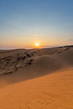 Sand hill in the sunset at Phan Thiet , Binh Thuan province,  Vietnam. Stock Images