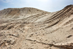 Sand hills over blue sky Stock Photo