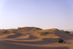 Sand hills in the Sahara desert. The Sahara ('the Great Desert') is the largest subtropical hot desert and third largest desert after Antarctica and the Arctic Royalty Free Stock Photo