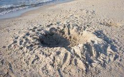 Sand hole Stock Photo