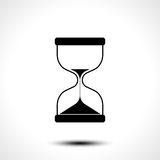 Sand hourglass icon isolated on white background. Vector illustration Royalty Free Stock Photo