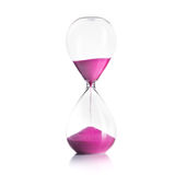 Sand hourglass isolated Stock Photography