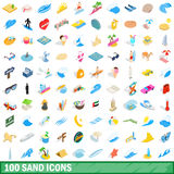100 sand icons set, isometric 3d style. 100 sand icons set in isometric 3d style for any design vector illustration royalty free illustration