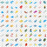 100 sand icons set, isometric 3d style. 100 sand icons set in isometric 3d style for any design vector illustration Stock Image