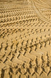 Sand in industrial quarry background Stock Photos