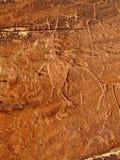 Sand-Insel-Petroglyphen Lizenzfreies Stockfoto