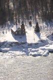 Sand-Inselleuchtturm stockfotos
