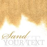 The sand isolated on white background. Close-up royalty free stock images