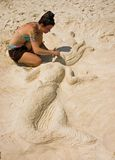 Sand-Künstler Lizenzfreies Stockfoto