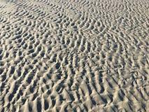Sand-Kräuselungen am Strand Stockbild