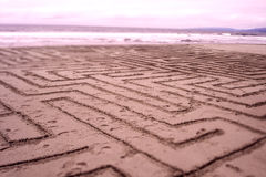 Sand-Labyrinth Lizenzfreies Stockbild