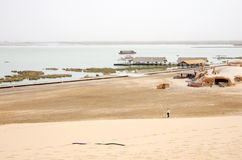 Sand Lake in China Royalty Free Stock Images