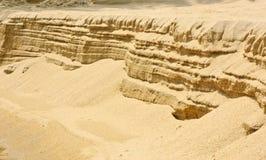 Sand layer beach Stock Photography