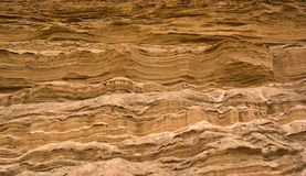 Sand layers. Send stripes and layers in a quarry - looks as fantastic landscape on Mars Royalty Free Stock Photos