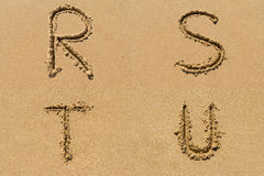 Sand Letter Sets Royalty Free Stock Image
