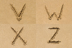 Sand Letter Sets Royalty Free Stock Photo