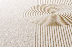 Sand with lines and circles Royalty Free Stock Images