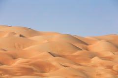 Sand in Liwa-Wüste Stockfotografie