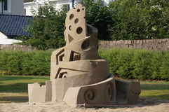Sand man sculpture in Kristiansand, Norway Royalty Free Stock Image