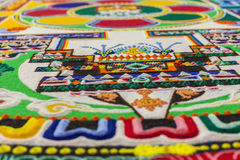 Sand mandala close up. Stock Image