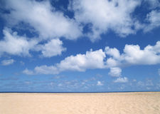 Sand meets Sky Royalty Free Stock Photos