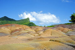 Sand Mehrfarben, Chamarel Mauritius lizenzfreies stockbild