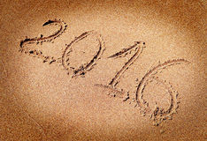2016 on the Sand Stock Photography