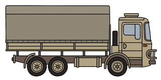 Sand military truck Royalty Free Stock Image
