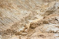 Sand mines close up Royalty Free Stock Images