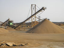 Sand mining Royalty Free Stock Photo