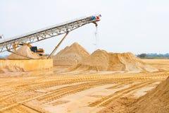Sand mining Stock Image