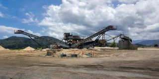 Sand Mining in Cairns Stock Photography