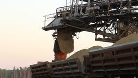 Sand mining excavator Royalty Free Stock Images