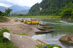 SAND MINING IN INDONESIA Stock Image